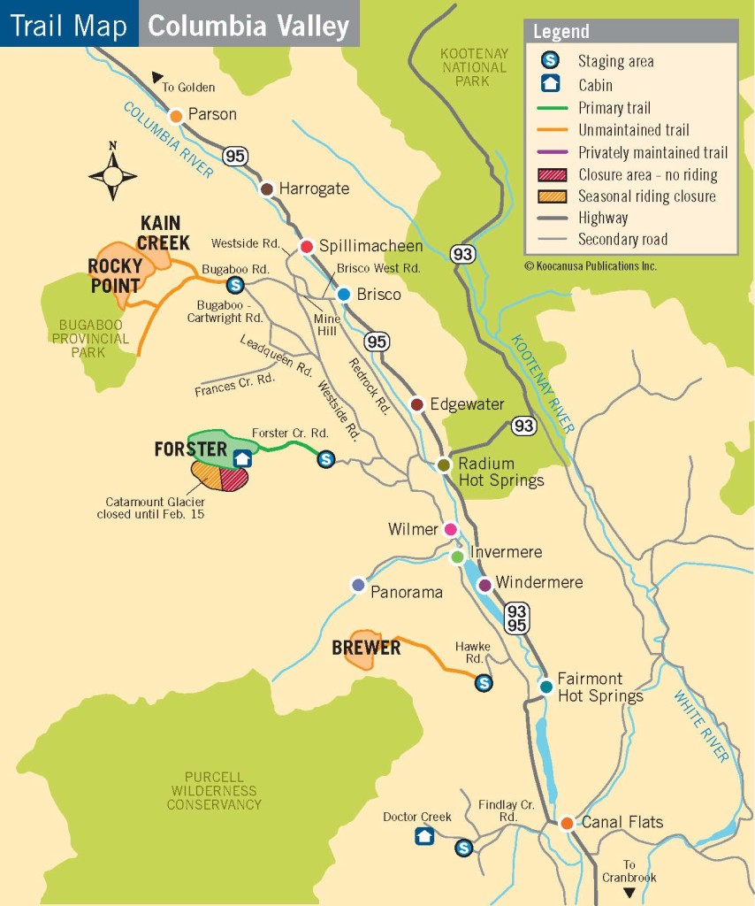 Koocanussa Trail Map