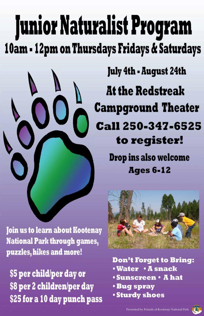 Junior Naturalist Program Poster