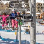 Ski Family Chairlift Panorama Winter