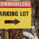 Sign Snowmobilers Parking