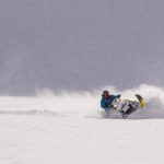 Snowmobiling Forester pow carve