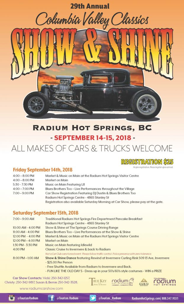 Show Shine Columbia Valley Classics Th Annual Radium BC - September car shows