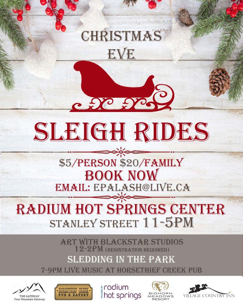 Christmas Sleigh Rides @ Radium Hot Springs Centre