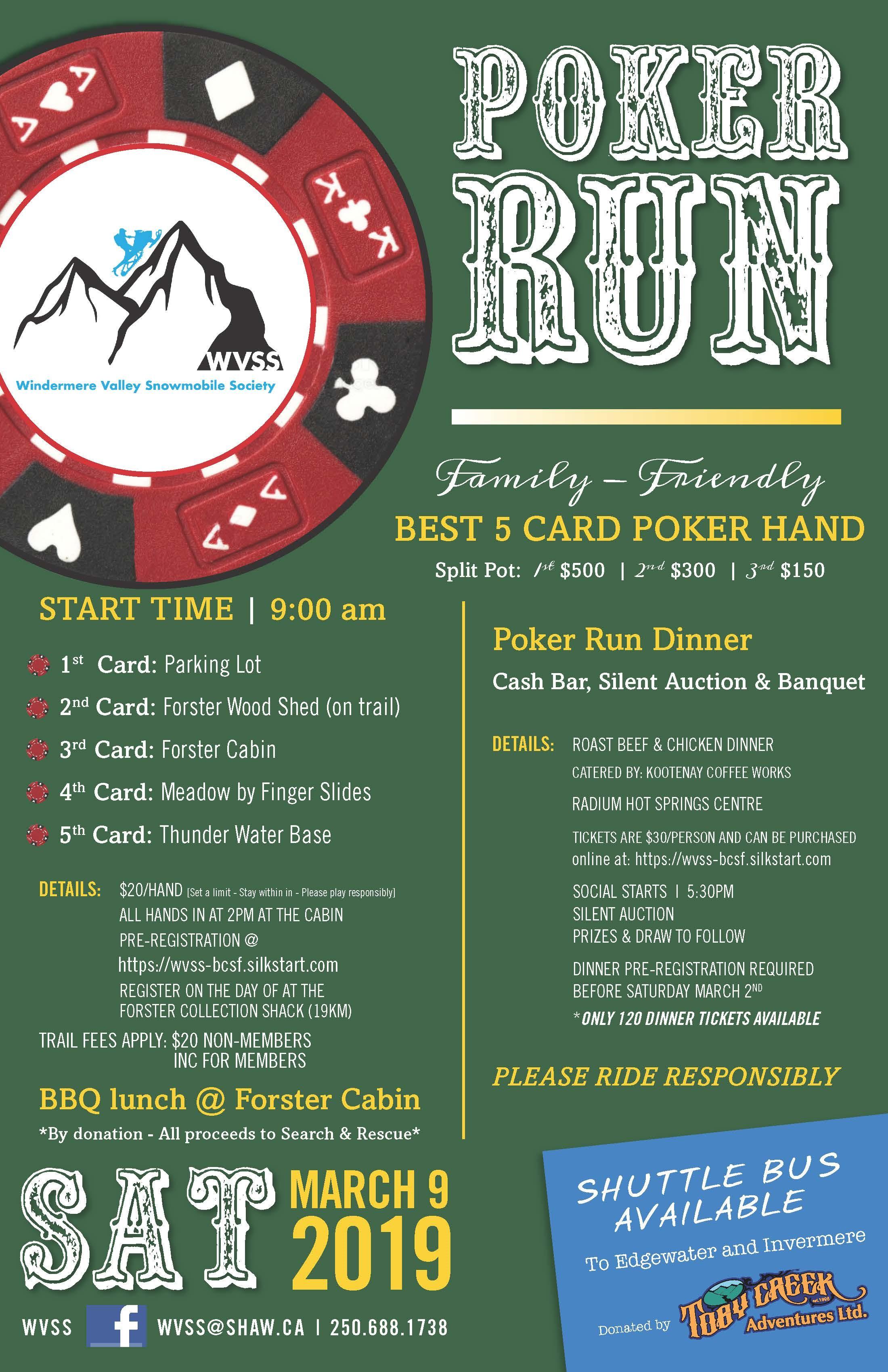 WVSS Family Friendly Poker Run - Radium Hot Springs